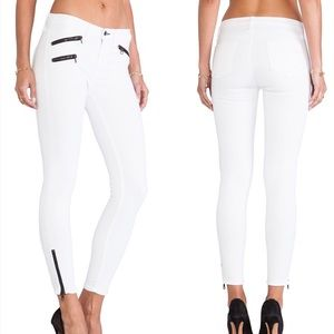 NWT Rag & Bone Triple Zip Skinny Jeans in White 27